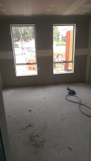 Looking from the master bedroom to the front of the house